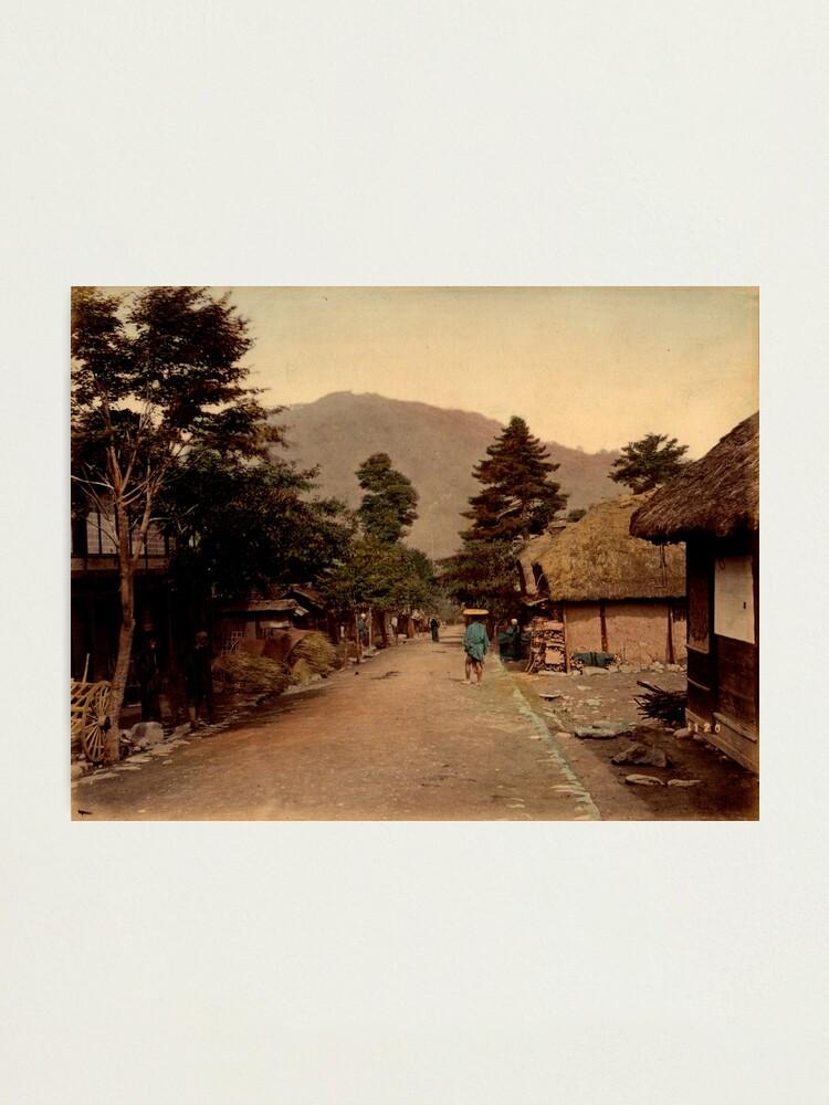 Alternate view of Nagakubo village at Nakasendo, Japan Photographic Print