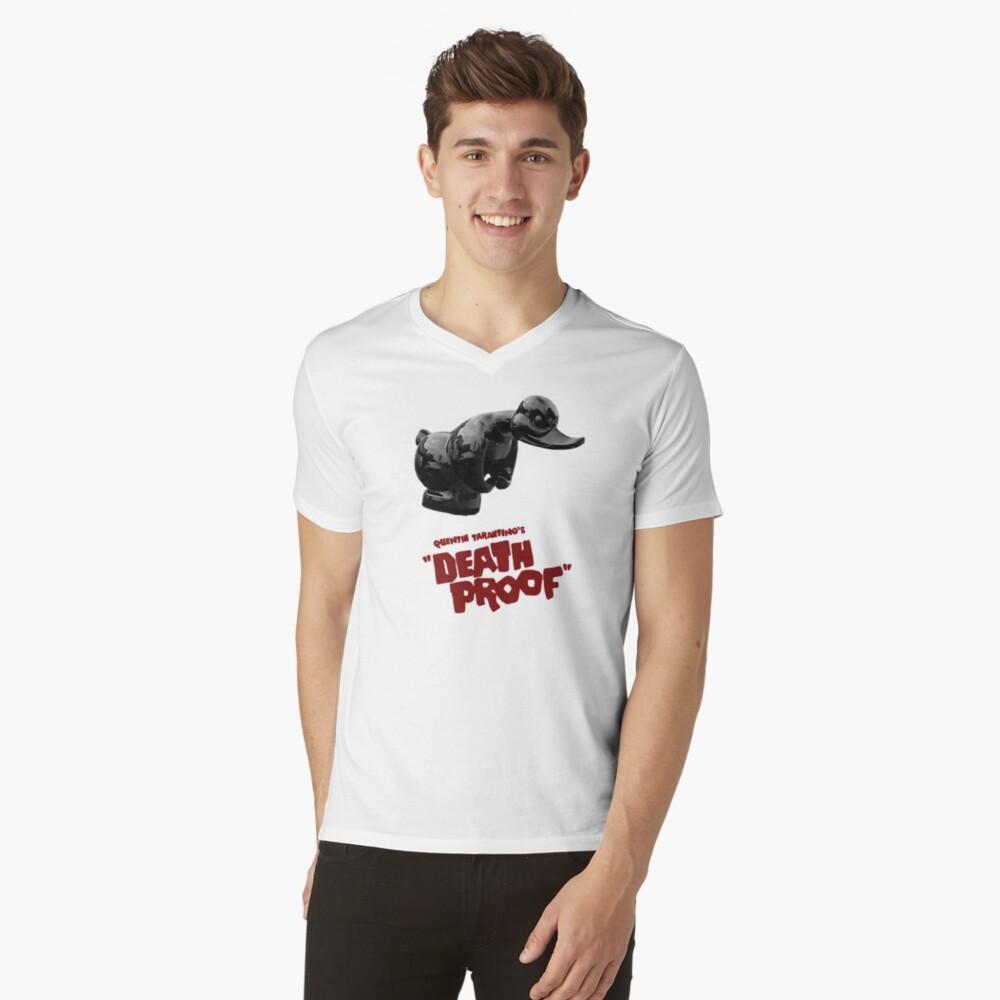 Prueba de la muerte - Pato Camiseta de cuello en V