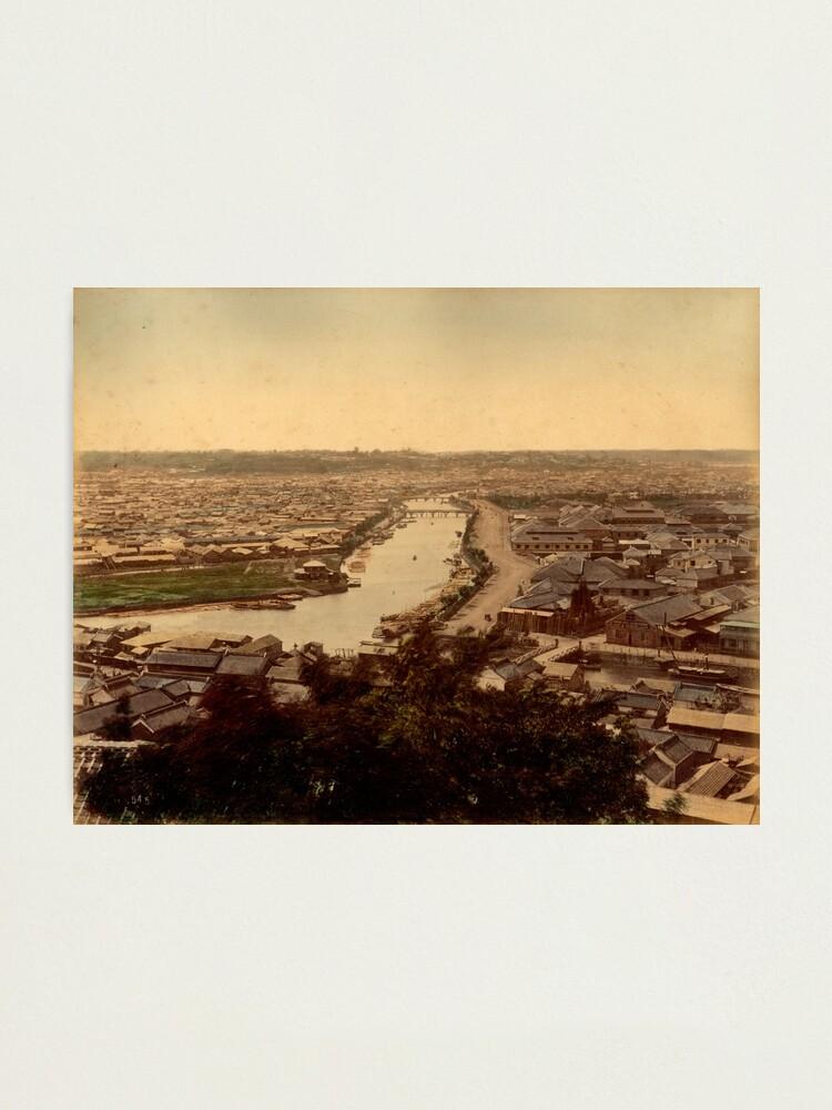 Alternate view of View over Yokohama, Japan Photographic Print