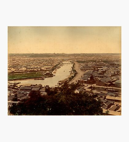 View over Yokohama, Japan Photographic Print