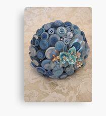 Something Blue: ButtonBelleBridal Bouquet Canvas Print
