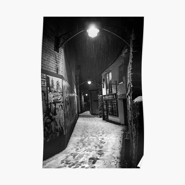 Ulverston Alley B&W Poster