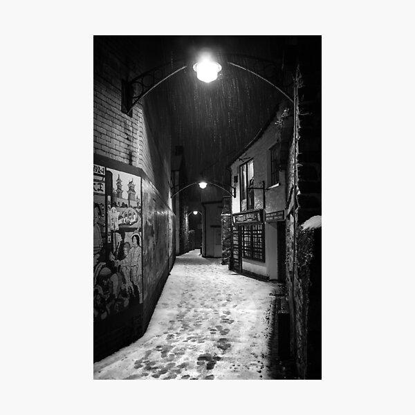 Ulverston Alley B&W Photographic Print