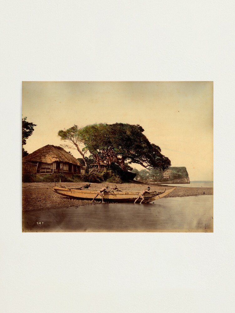 Alternate view of Japanese fishing village, Honmoku Photographic Print