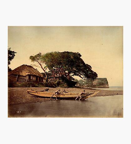 Japanese fishing village, Honmoku Photographic Print