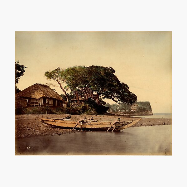Japanese fishing village, Honmoku Photographic Print