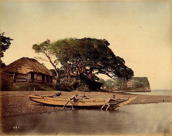 Japanese fishing village, Honmoku by Fletchsan