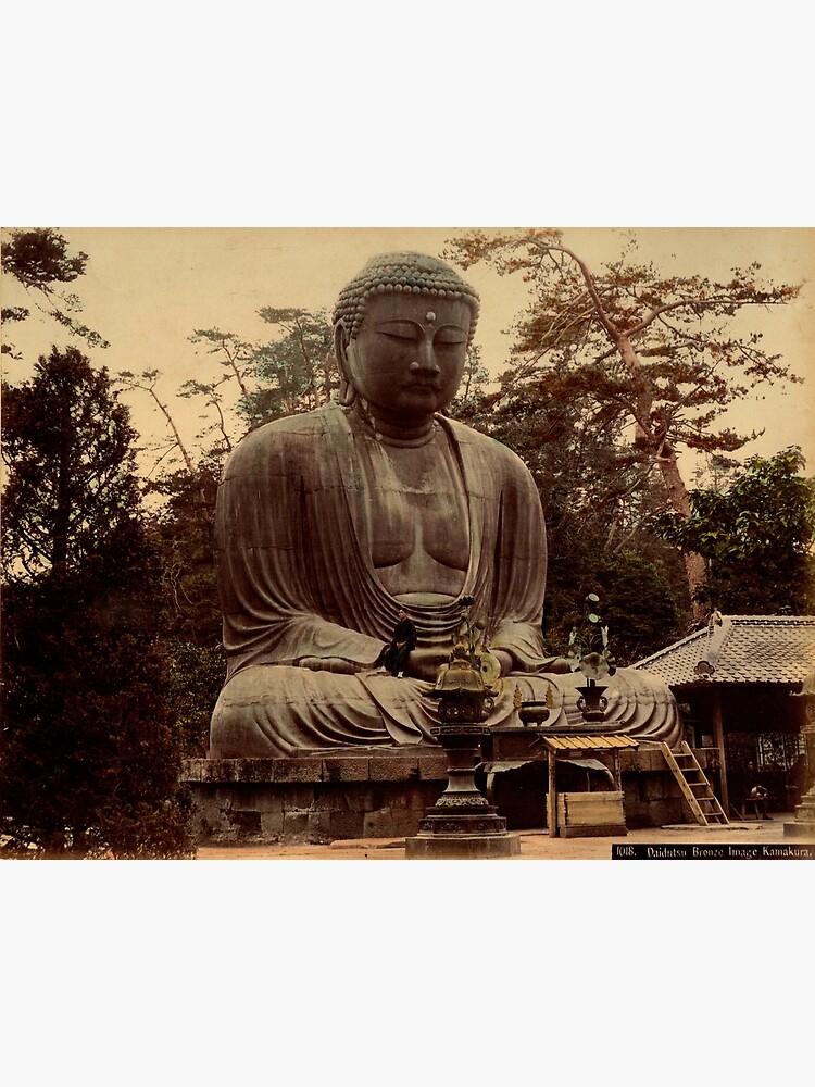 Giant bronze Buddha, daibutsu, Kamakura, Japan by Fletchsan