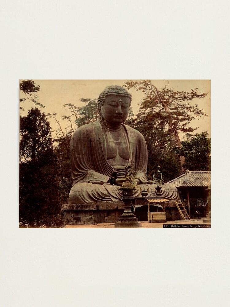 Alternate view of Giant bronze Buddha, daibutsu, Kamakura, Japan Photographic Print