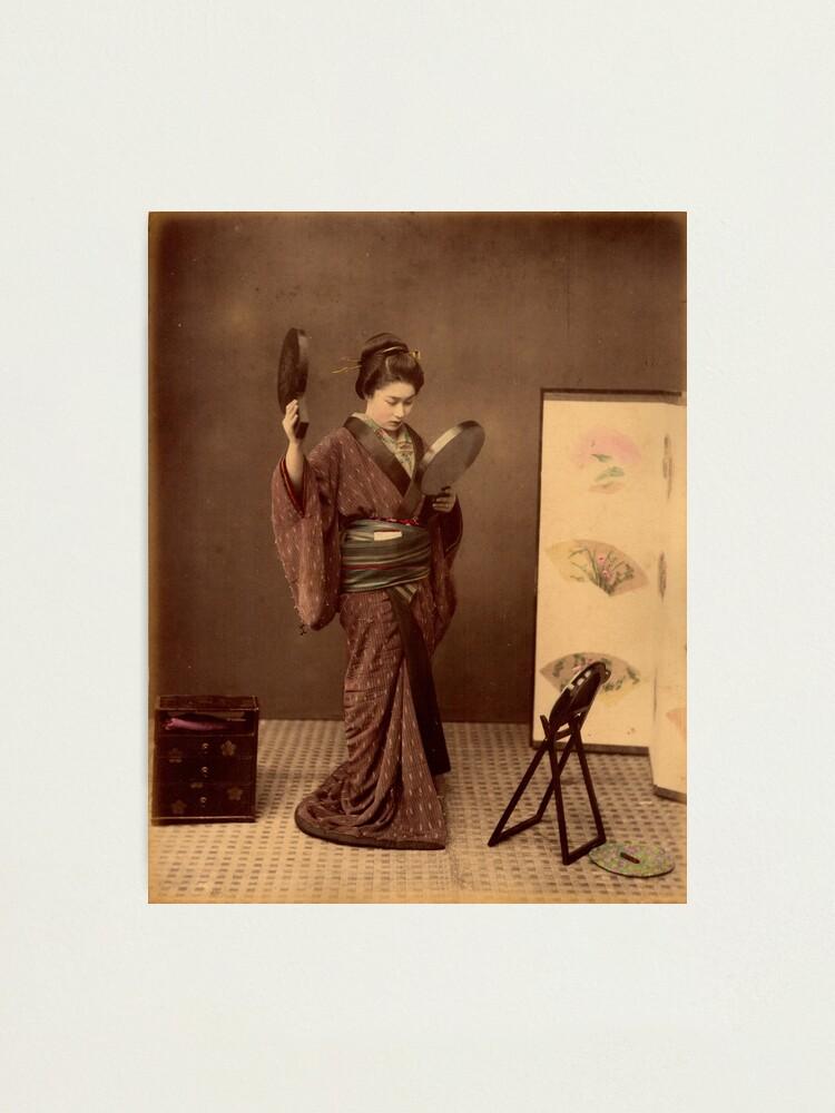 Alternate view of Japanese girl wearing kimono Photographic Print