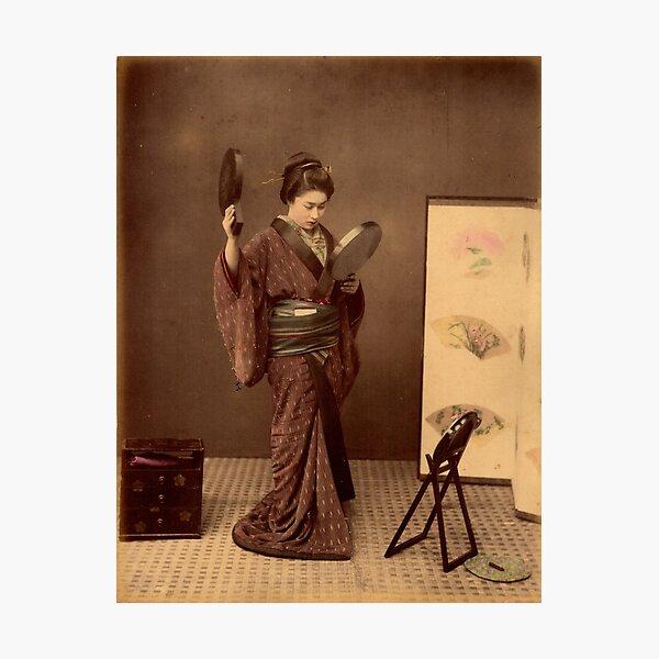Japanese girl wearing kimono Photographic Print