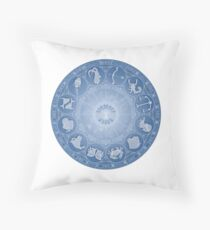 Zodiac wheel - the 12 star signs Throw Pillow