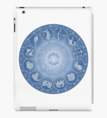 Zodiac wheel - the 12 star signs iPad Case/Skin