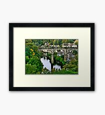 """Bridge over the River Nidd"" Framed Print"