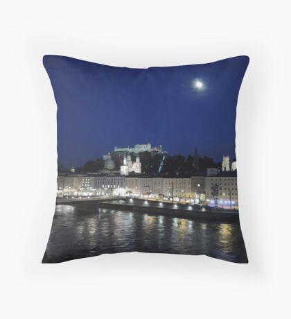 Salzburg Nightscape Throw Pillow