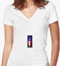 NC Surfboard Women's Fitted V-Neck T-Shirt