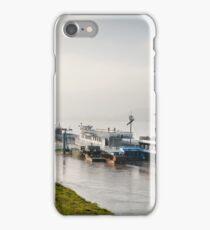 Tourist ferry ships at Vistula River iPhone Case/Skin