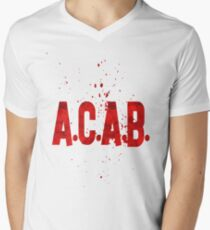 acab Men's V-Neck T-Shirt