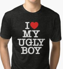 Die Antwoord - I Love My Ugly Boy (white) Tri-blend T-Shirt