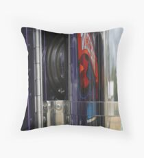 Exhaust-ed Reflection Throw Pillow