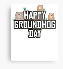 Funny groundhog day Respect the groundhog Metal Print