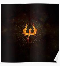 Fire Phoenix Bird  Poster