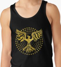 Gold Decorated Phoenix bird symbol Tank Top