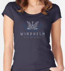 Windhelm Skyrim Fitted Scoop T-Shirt