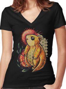 Sandshrew Women's Fitted V-Neck T-Shirt