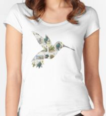 Stamp collectors humming bird Women's Fitted Scoop T-Shirt
