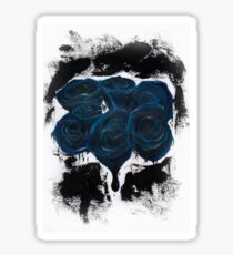 Ink Blue Roses - Escaping from Houdini inspired Sticker