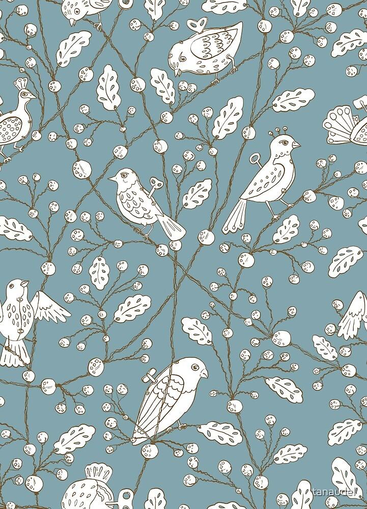 Clockwork Birds in blue by tanaudel