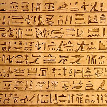 Egyptian Hieroglyphs by Bazyartass