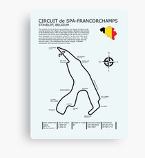 Spa Francorchamps Circuit Canvas Print