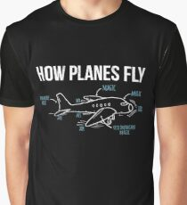 How Planes Fly Funny Aerospace Engineer Engineering T-Shirt Graphic T-Shirt