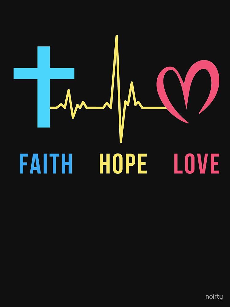 Faith hope love christian heartbeat t shirt classic t - Faith love hope pictures ...
