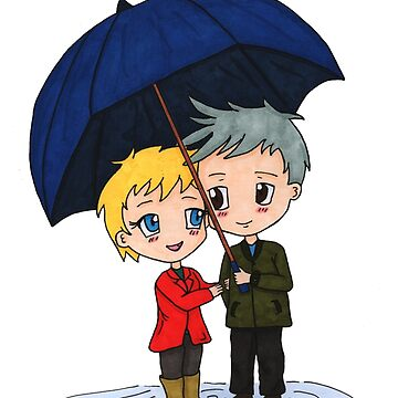 Sam & Jack - Rainy Day by XFchemist-Art