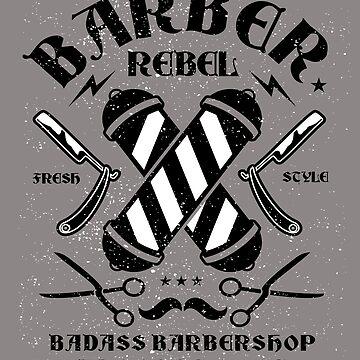 Badass Barbershop  by GarnetLeslie