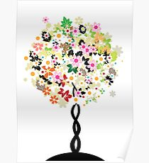 Floral tree Poster