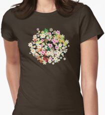 Floral tree Womens Fitted T-Shirt