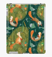 Pattern 74 - Playful otters by the river  iPad Case/Skin