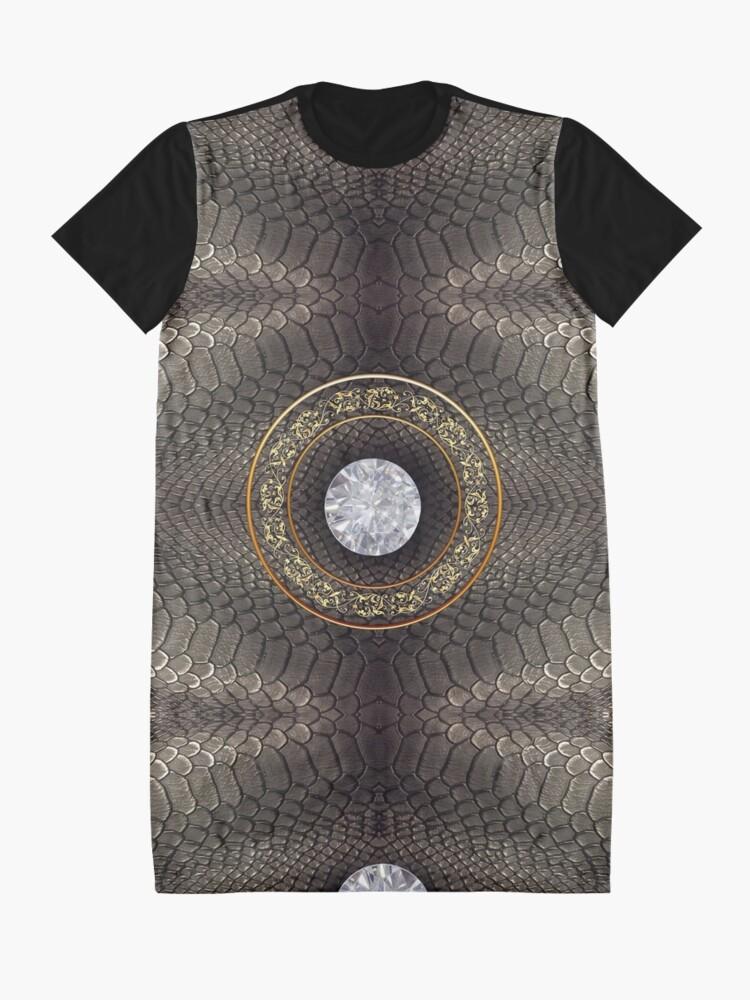 Alternate view of steampunk bondage, skin, skin pattern, diamond, brilliant, rock, adamant, minikin Graphic T-Shirt Dress
