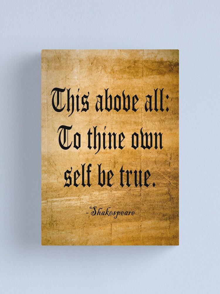 Pour tes soi être vrai T-shirt pour enfant Shakespeare