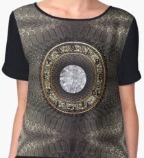skin, skin pattern, diamond, brilliant, rock, adamant, minikin, watch face, clock face Chiffon Top