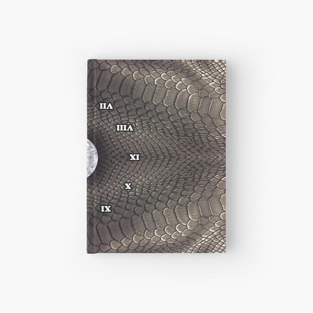 steampunk bondage, skin, skin pattern, diamond, brilliant, rock, adamant, minikin, watch face, clock face Hardcover Journal