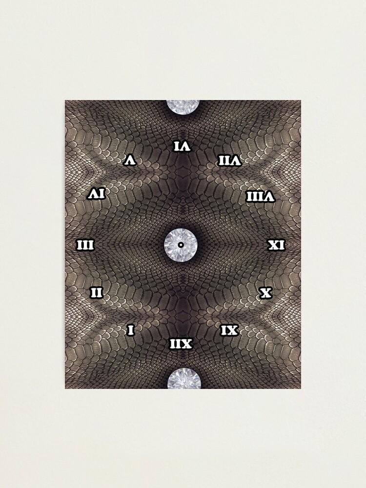Alternate view of skin, skin pattern, diamond, brilliant, rock, adamant, minikin, watch face, clock face Photographic Print