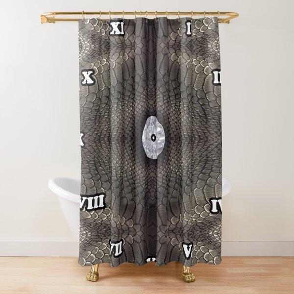 steampunk bondage, skin, skin pattern, diamond, brilliant, rock, adamant, minikin, watch face, clock face Shower Curtain