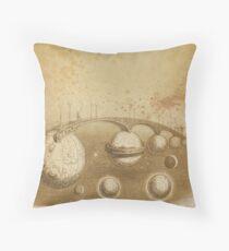 Grandville's Sepia Tea Sky Throw Pillow