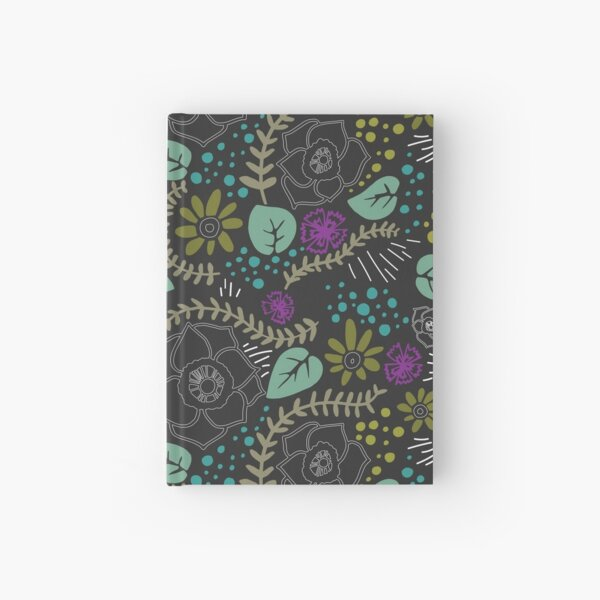 chalkboard floral Hardcover Journal