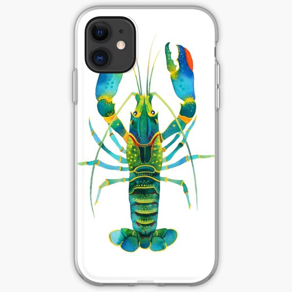 Turquoise Lobster iPhone Soft Case